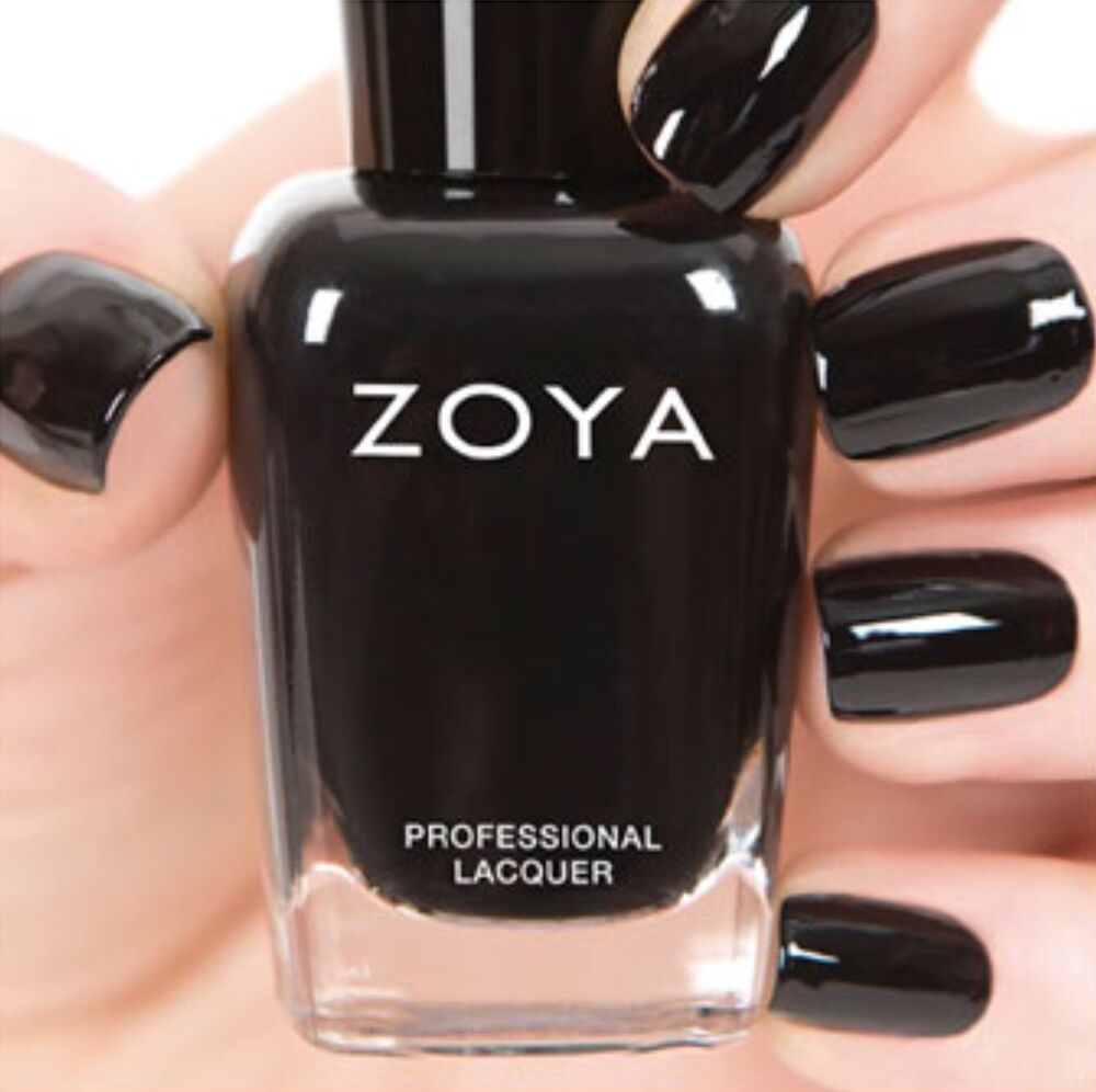 Black Nail Polish Ebay: ZOYA ZP771 WILLA Onyx Black Nail Polish