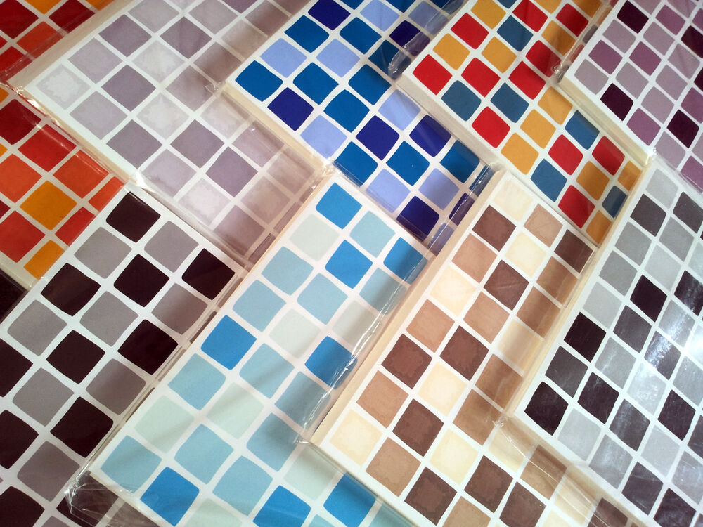 Self Adhesive Mosaic Tile Transfer Stickers Bathroom