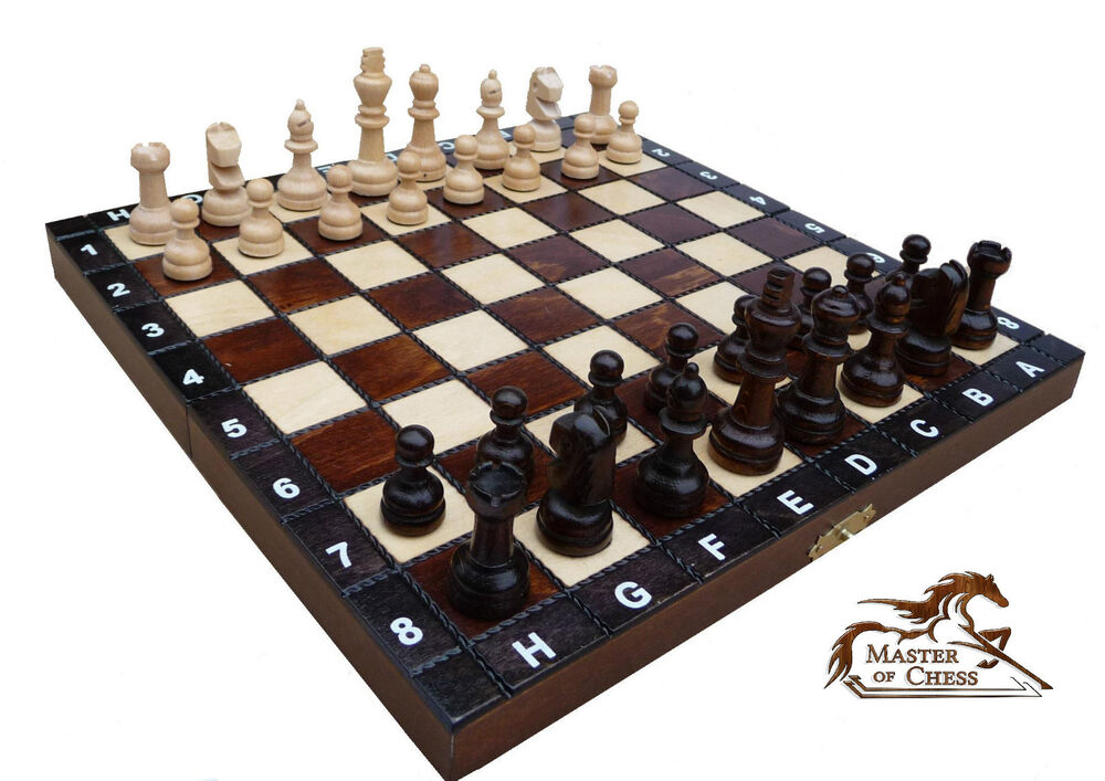 Superb Wooden Chess Set 30x30cm Stunning Hand Crafted