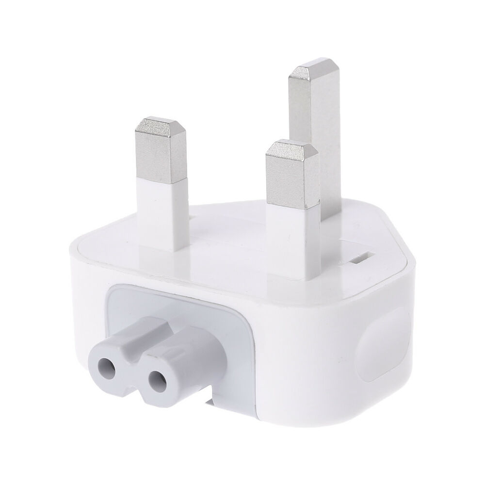 New White Uk Ac Plug Power Charger Adapter For Apple Ibook