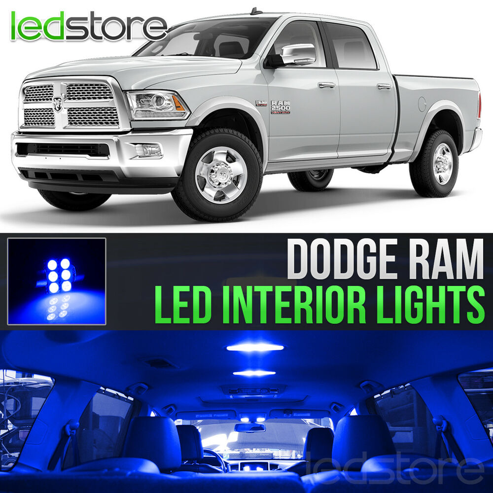 2009 2015 Dodge Ram 1500 2500 3500 Blue Led Lights Interior Kit Ebay