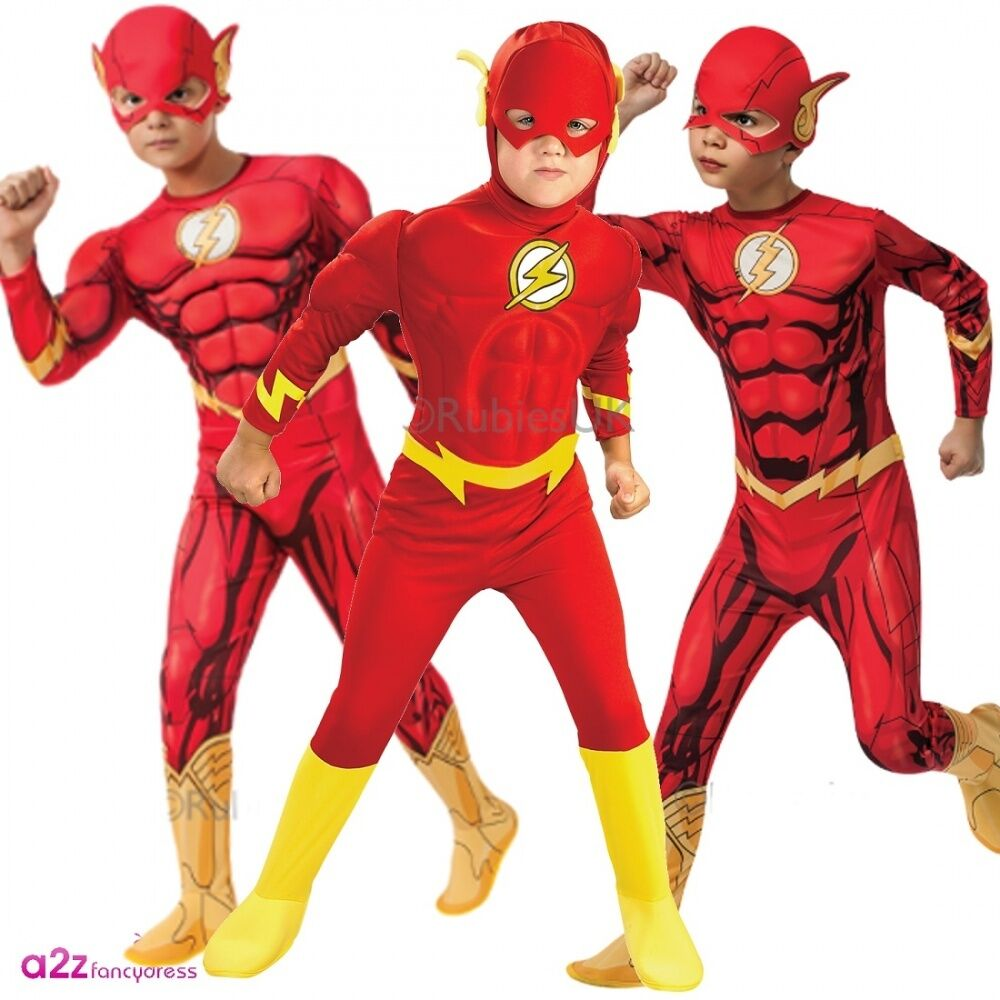 Kids Flash Deluxe Muscle Chest Superhero Comics