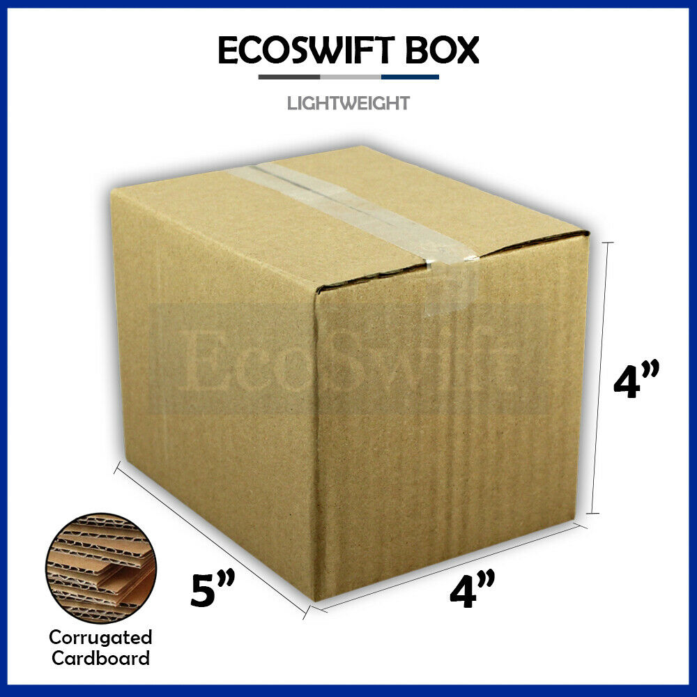 1 5x4x4 cardboard packing mailing moving shipping boxes. Black Bedroom Furniture Sets. Home Design Ideas