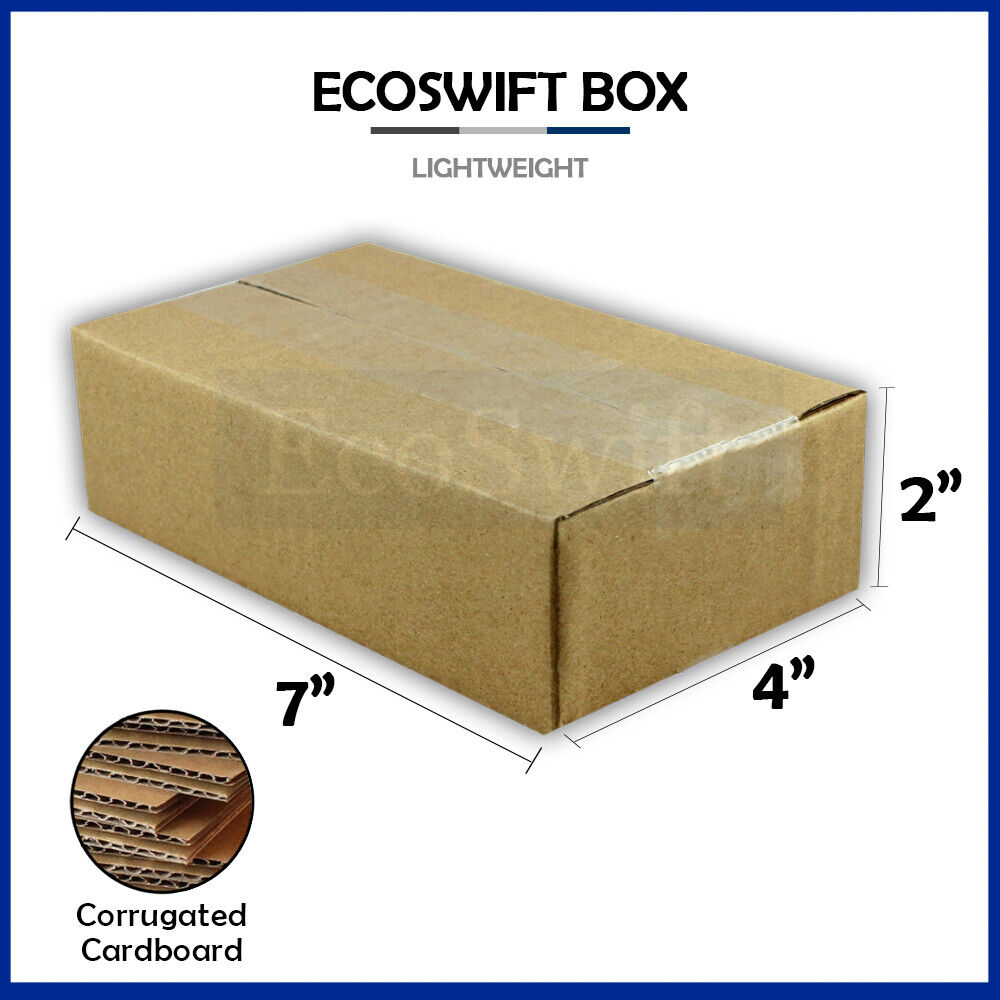 1 7x4x2 cardboard packing mailing moving shipping boxes. Black Bedroom Furniture Sets. Home Design Ideas