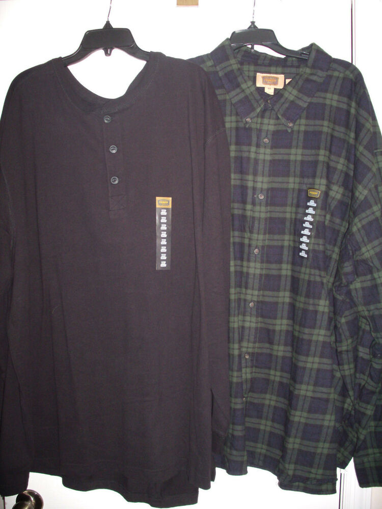 Lot of 2 the foundry supply co mens long sleeve shirts for Mens 4xlt flannel shirts