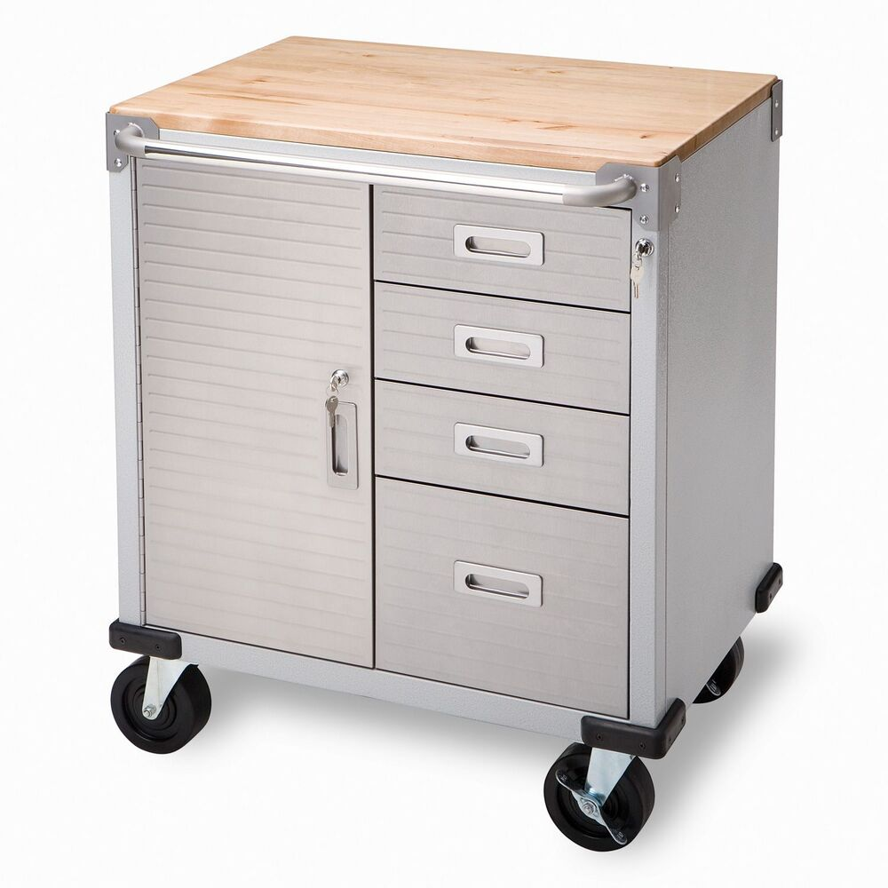 Seville 4-Drawer Rolling Garage Steel Metal Storage