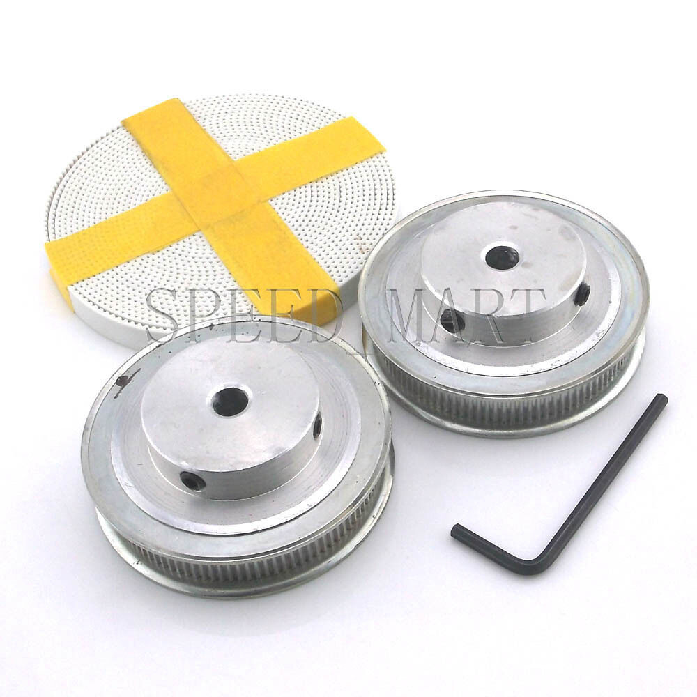 2 X Mxl Type Timing Pulley 100 Teeth 8mm Bore For Stepper