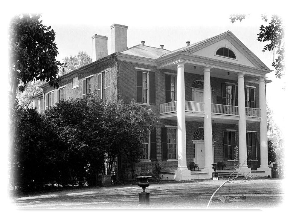 The arlington a natchez antebellum plantation home for Plantation house plans