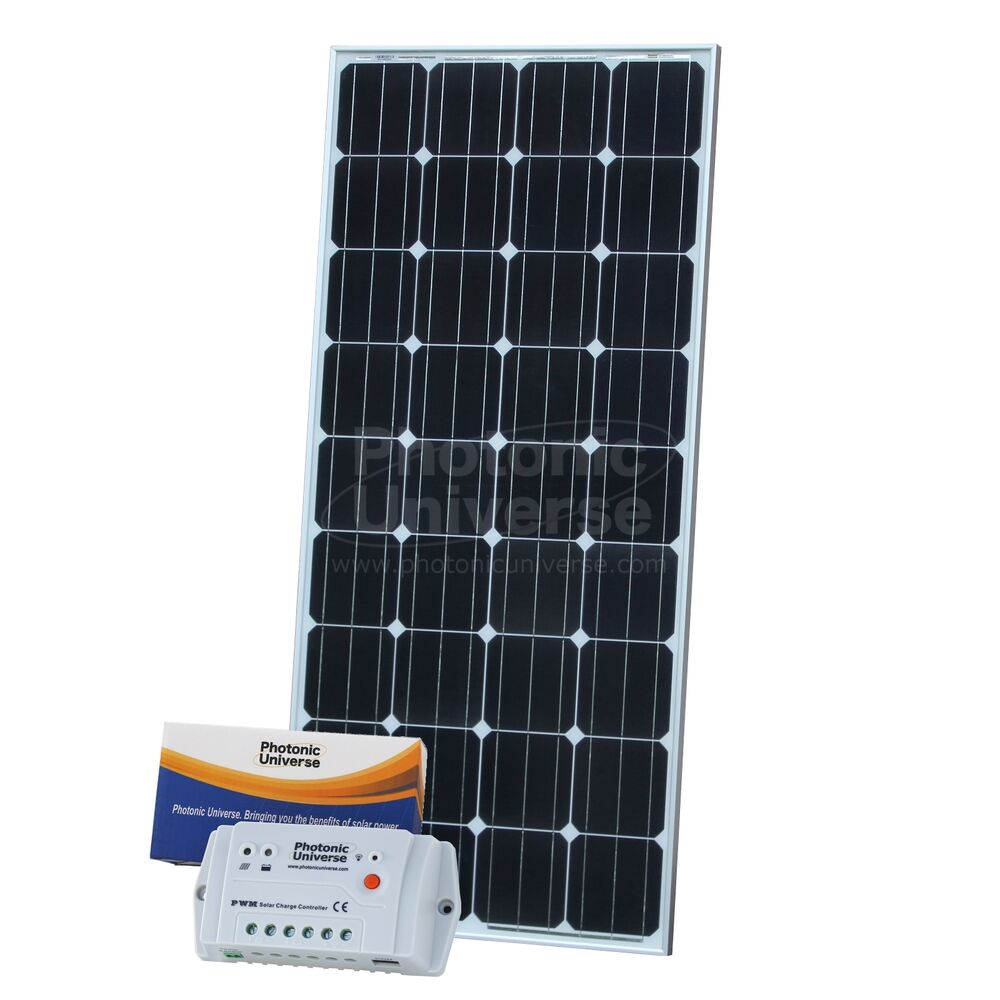 150w 12v solar charging kit with 10a controller 5m cable for camper caravan boat ebay. Black Bedroom Furniture Sets. Home Design Ideas