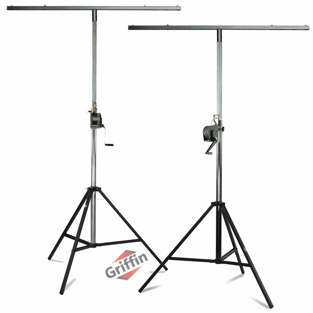 crank up truss lighting stands stage light mount trussing speaker system pa dj ebay. Black Bedroom Furniture Sets. Home Design Ideas