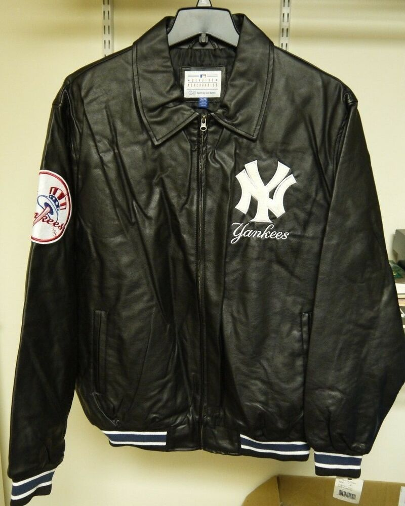 Leather yankees jacket