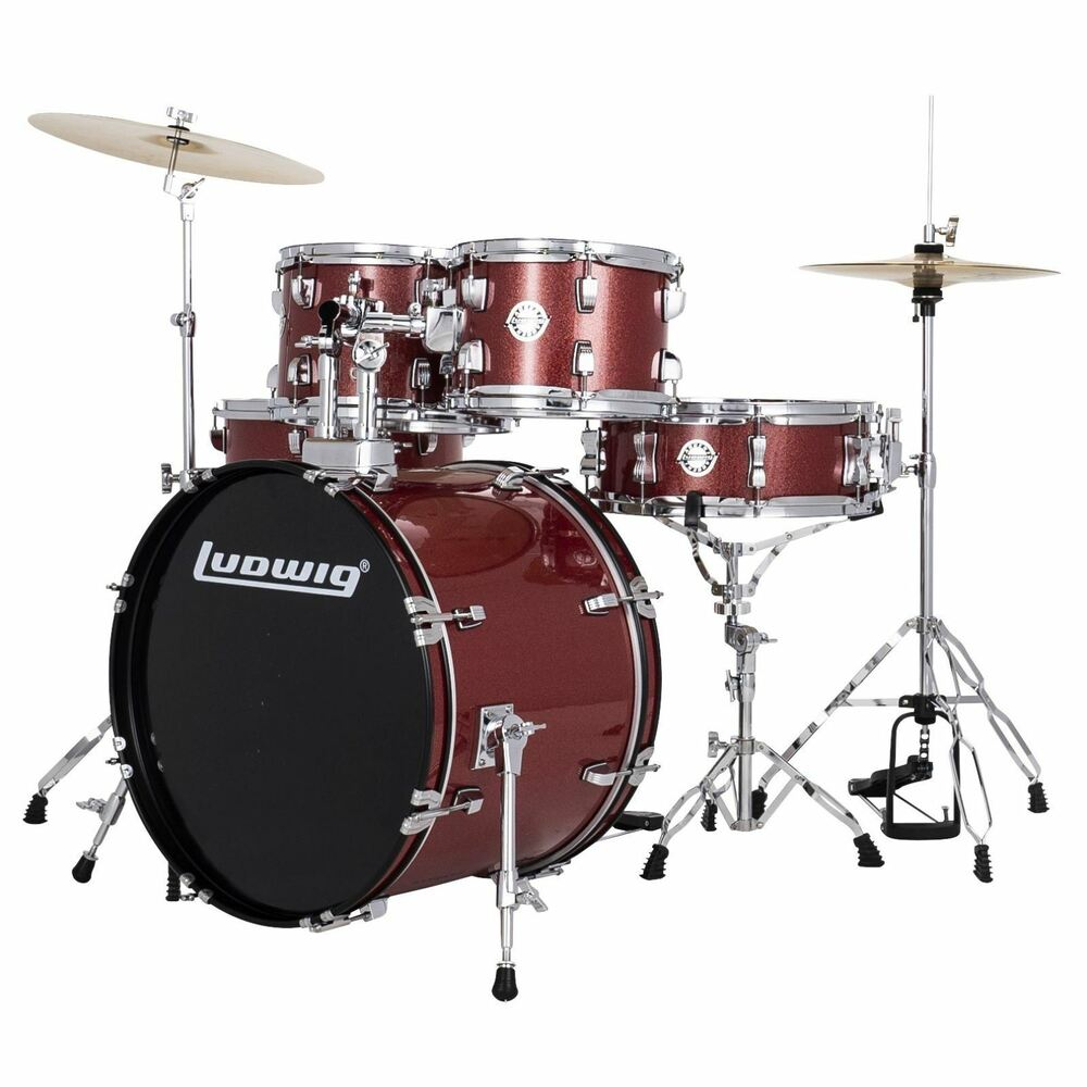New Ludwig Lc170 Accent Fuse 5 Piece Complete Drum Set W
