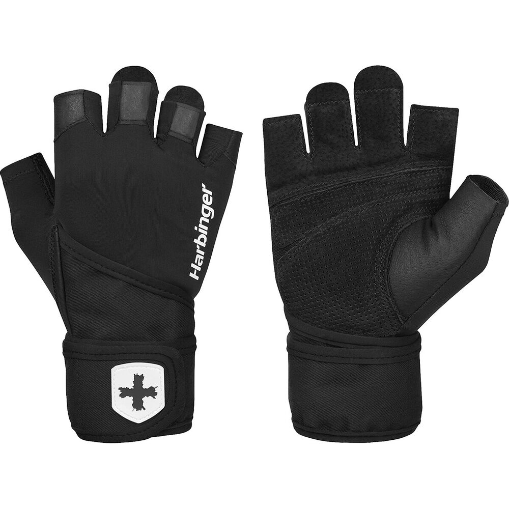 Fitness Weight Lifting Gloves: Harbinger 140 Ventilated Pro Wristwrap Weight Lifting
