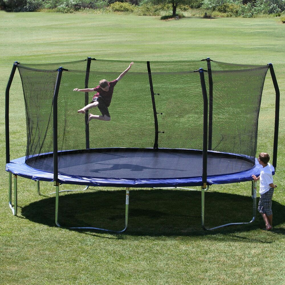 Kidwise Jumpfree 15 Ft Trampoline And Safety Enclosure: Skywalker Trampoline 17 X 15 Oval Trampoline And Enclosure