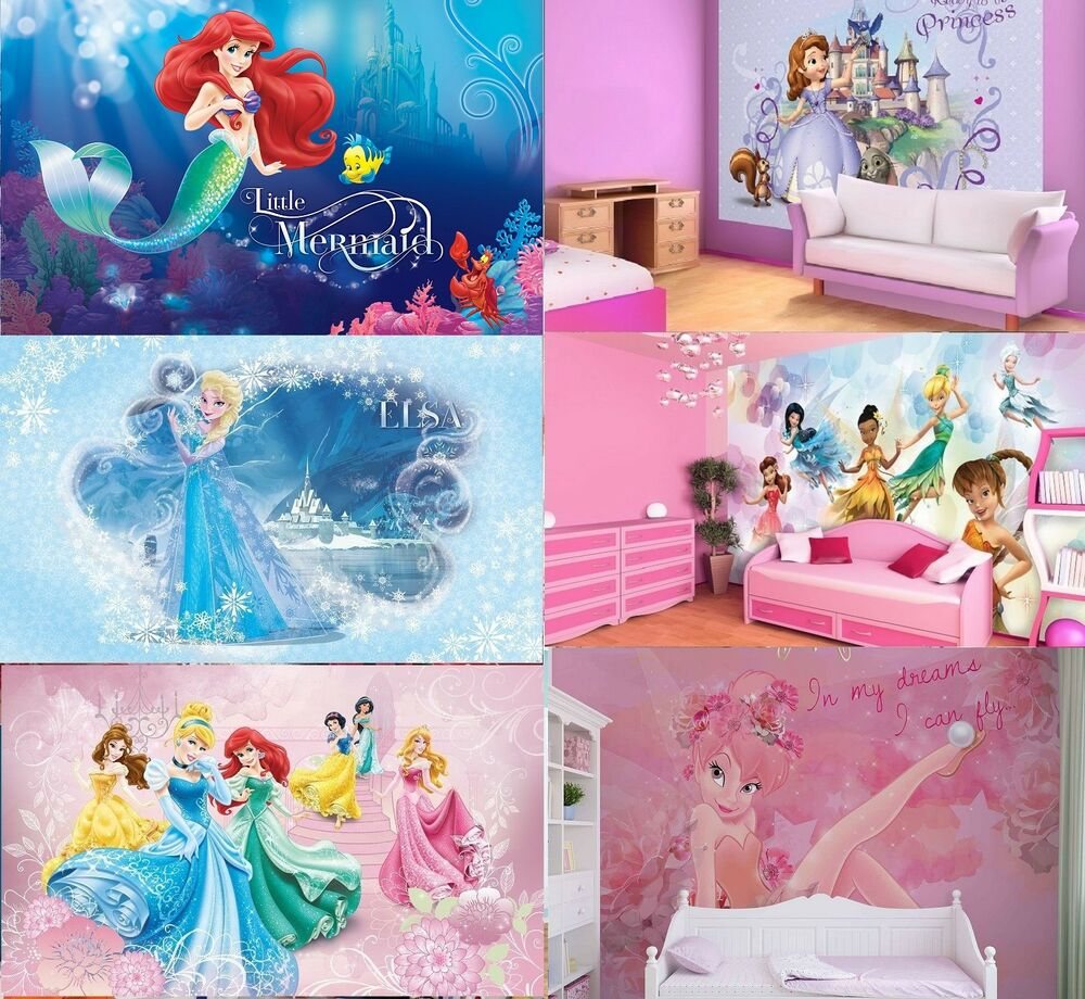 Photo Wall Mural Wallpapers KIDS ROOM DISNEY Frozen Princess Elsa Ariel  Girls Part 81