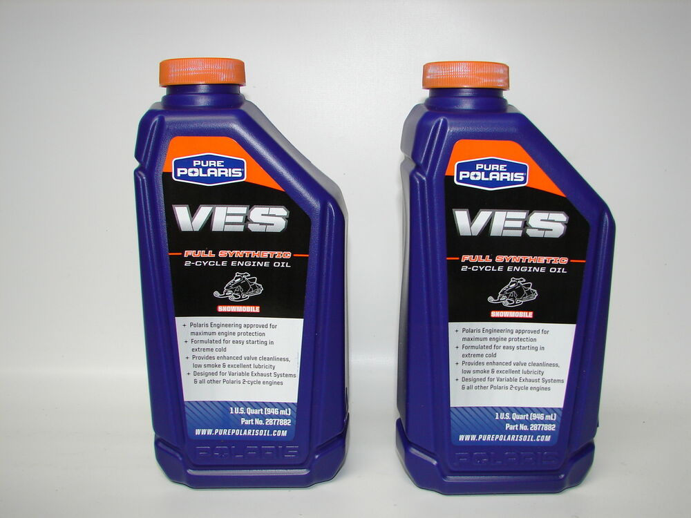 Pure polaris ves full synthetic 2 cycle engine oil p n for Pure synthetic motor oil