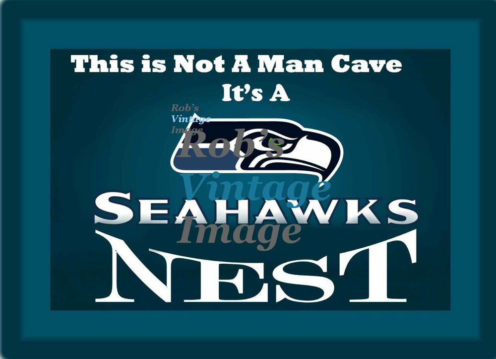 Man Cave Posters For Sale : Seattle seahawks nest man cave sign poster nfl football