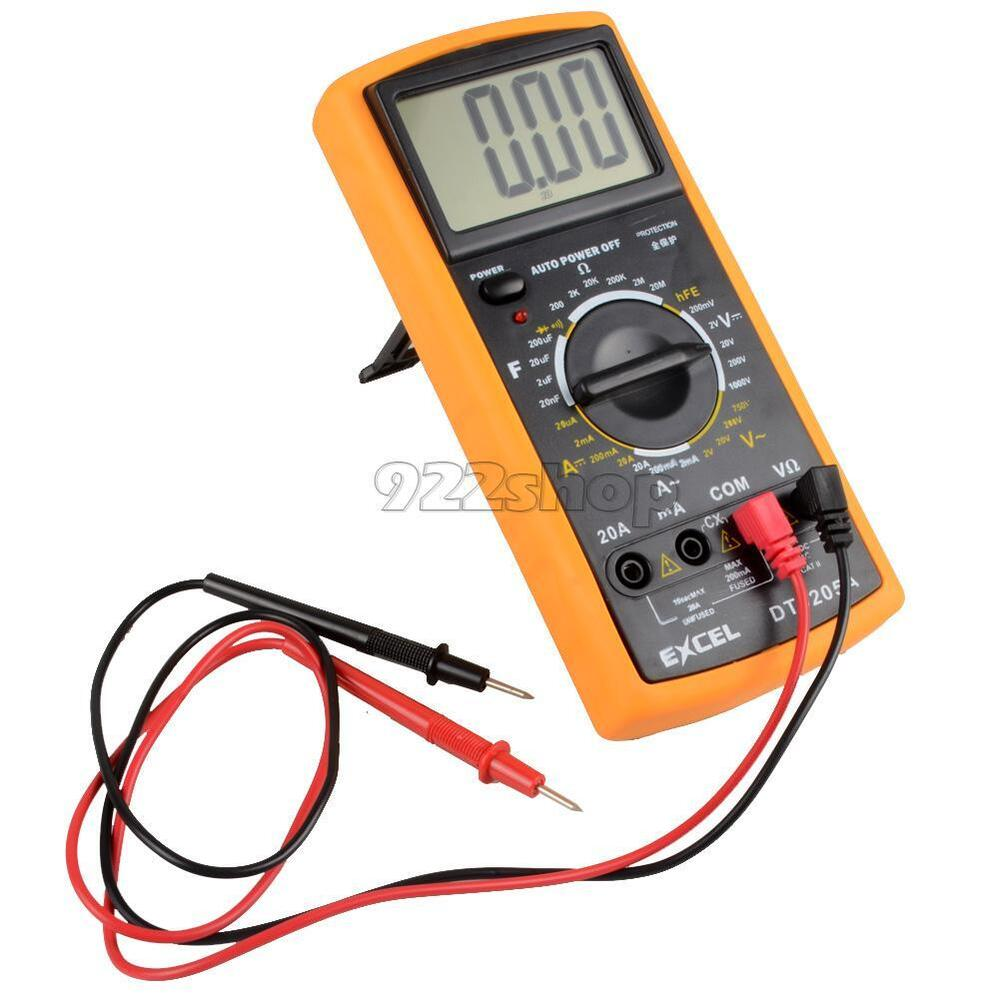 Check For Continuity Voltmeter : New digital lcd voltmeter ammeter ohmmeter test meter