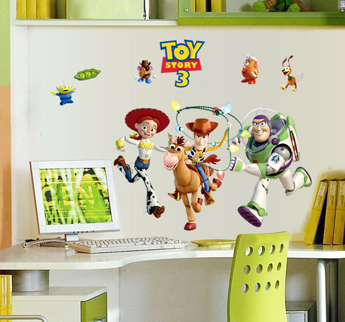 new toy story buzz lightyear large wall stickers removeble buzz lightyear