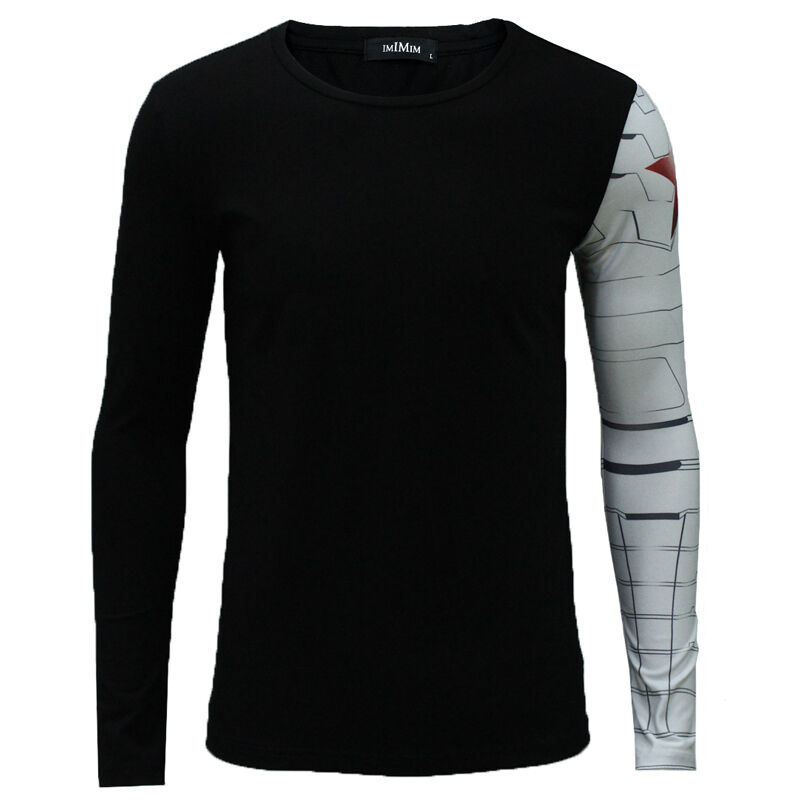 Long Sleeve V Neck T Shirt Mens