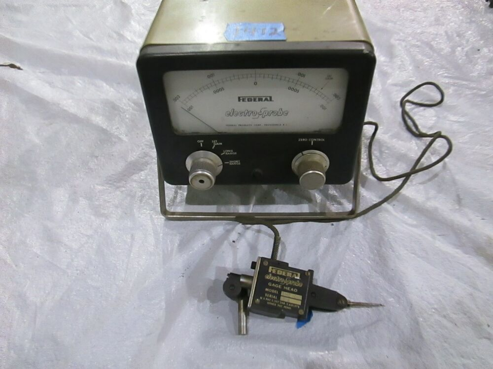 Electronic Federal Gage Products : Federal amplifier model p and electronic gage head