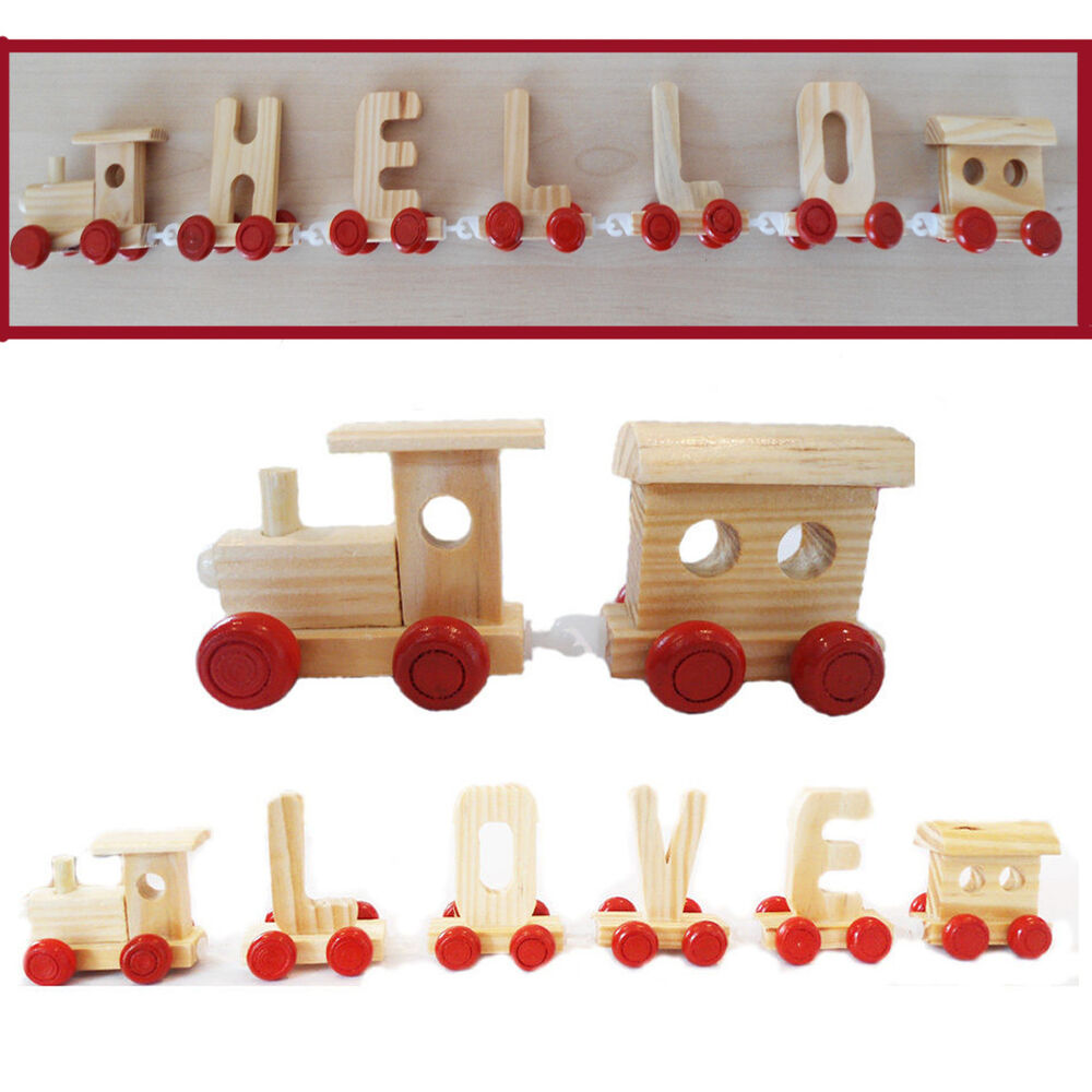 Personalised alphabet name train wooden letters for Kids name letters