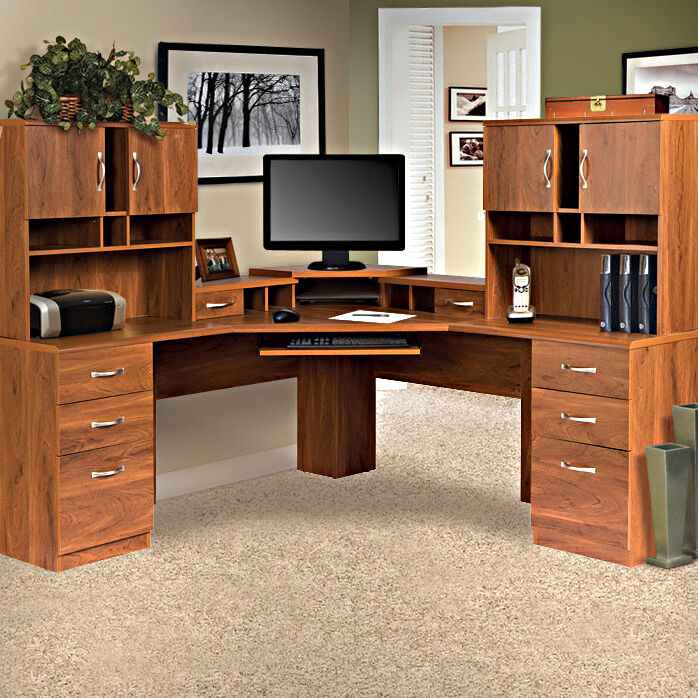 executive office furniture set desk hutches drawers home