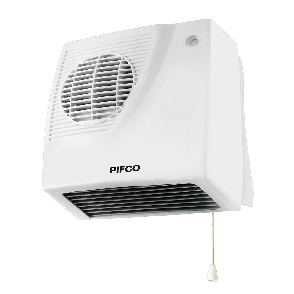 Pifco p44014 1000w 2000w bathroom downflow heater wall for Heat bathroom