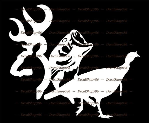 Deer fish turkey outdoor hunting fishing vinyl die for Hunting and fishing decals