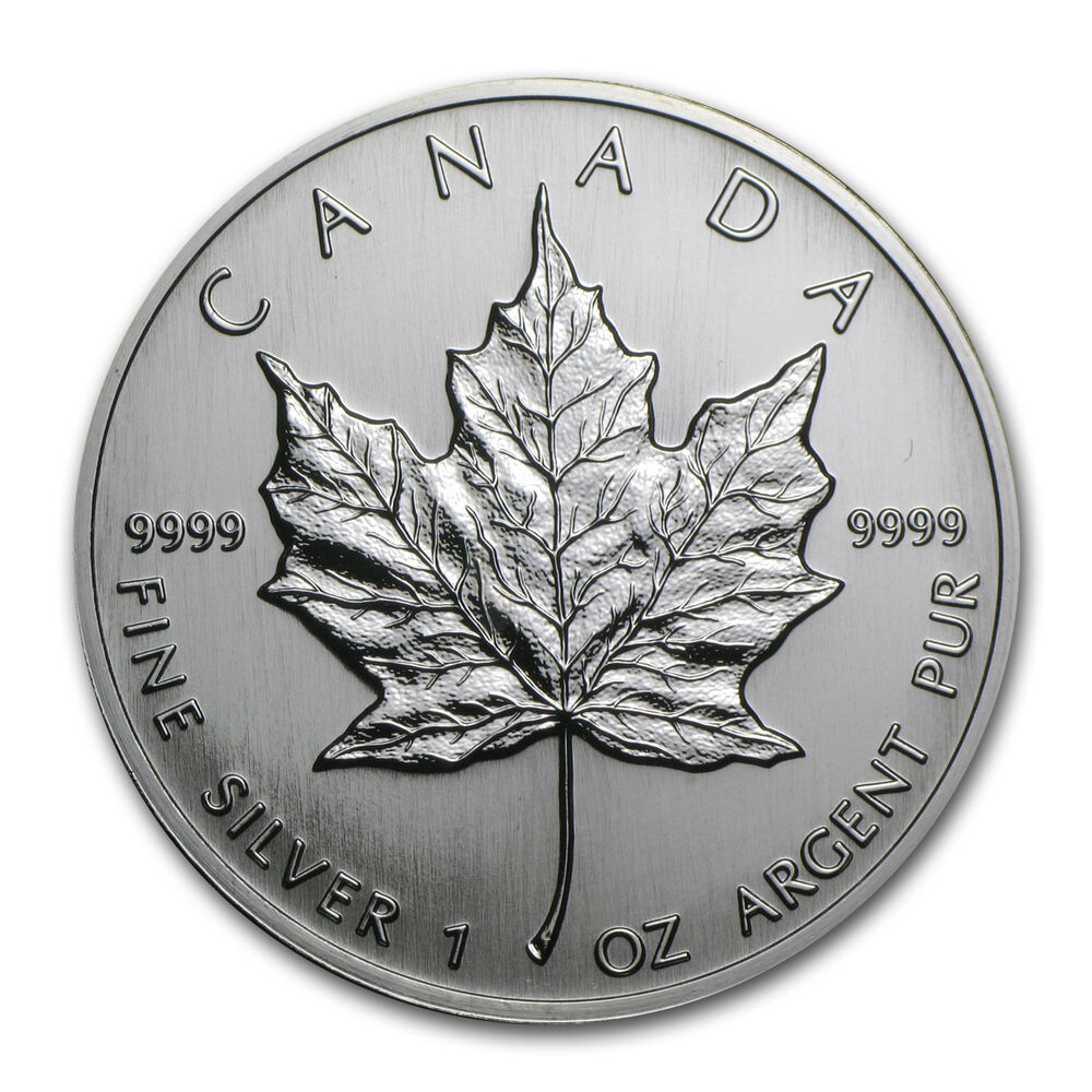 1992 1 Oz Silver Canadian Maple Leaf Coin Brilliant