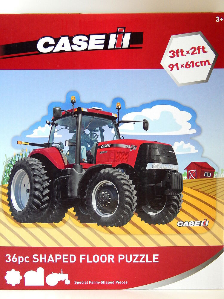 Farm Implement Pieces : Case ih tractor floor puzzle special pc farm shaped