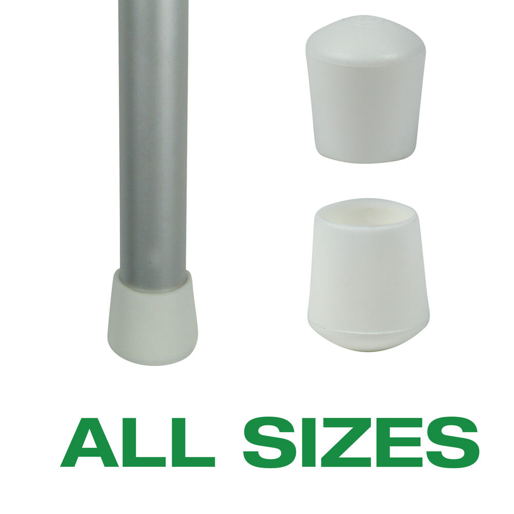 Flexible Plastic White Ferrules For Tables And Chair Legs