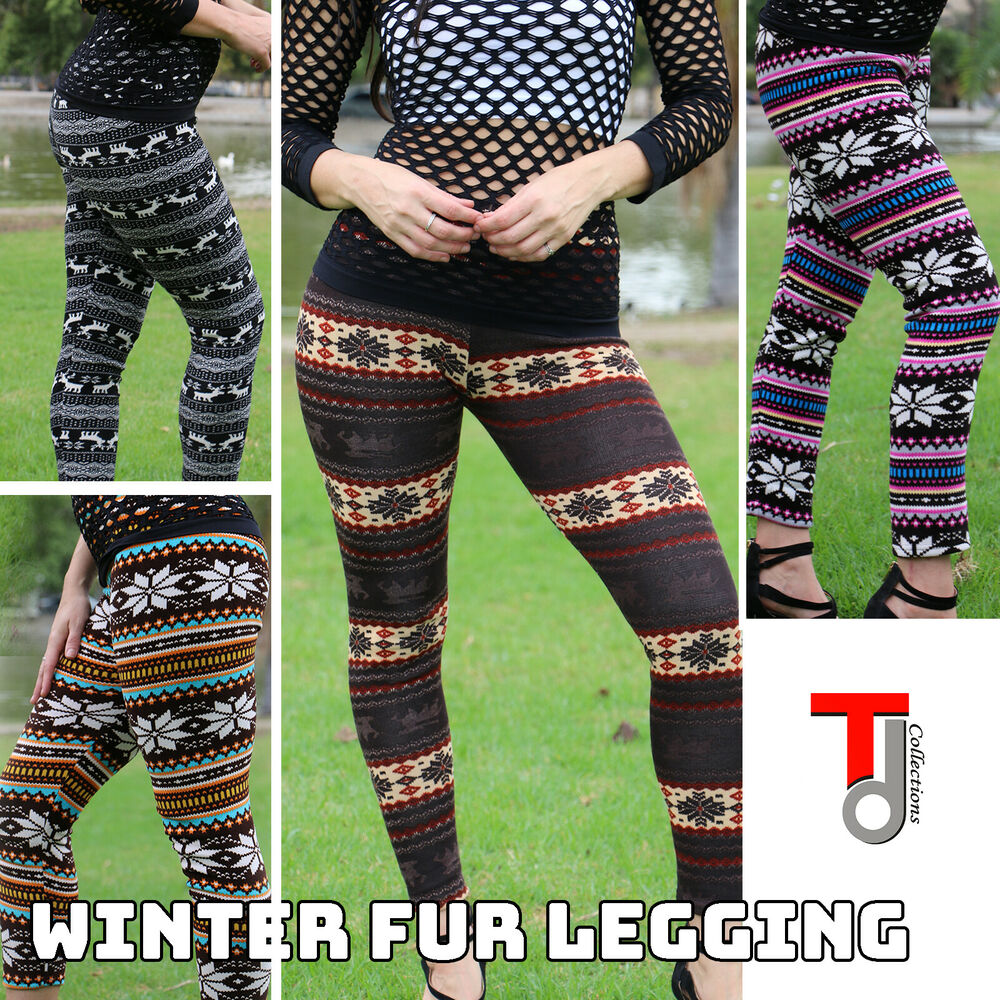 25d0736205ec3 Details about Women's Solid New Winter Thick Warm Fleece Lined Thermal  Stretchy Leggings Pants
