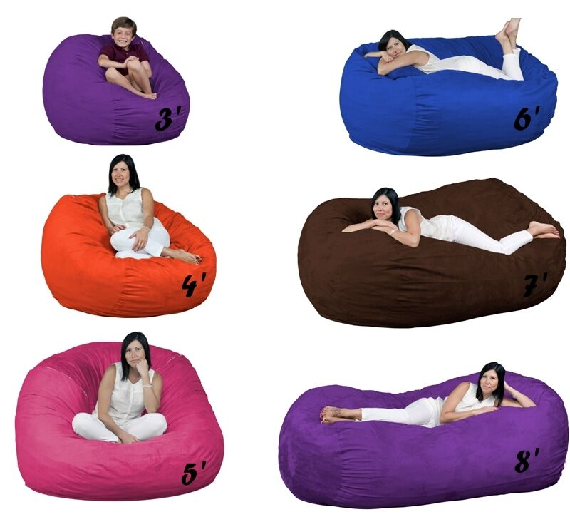 Bean Bag Chairs Large Foam Filled FUGU Brand Beanbags All Sizes And Colors  | EBay
