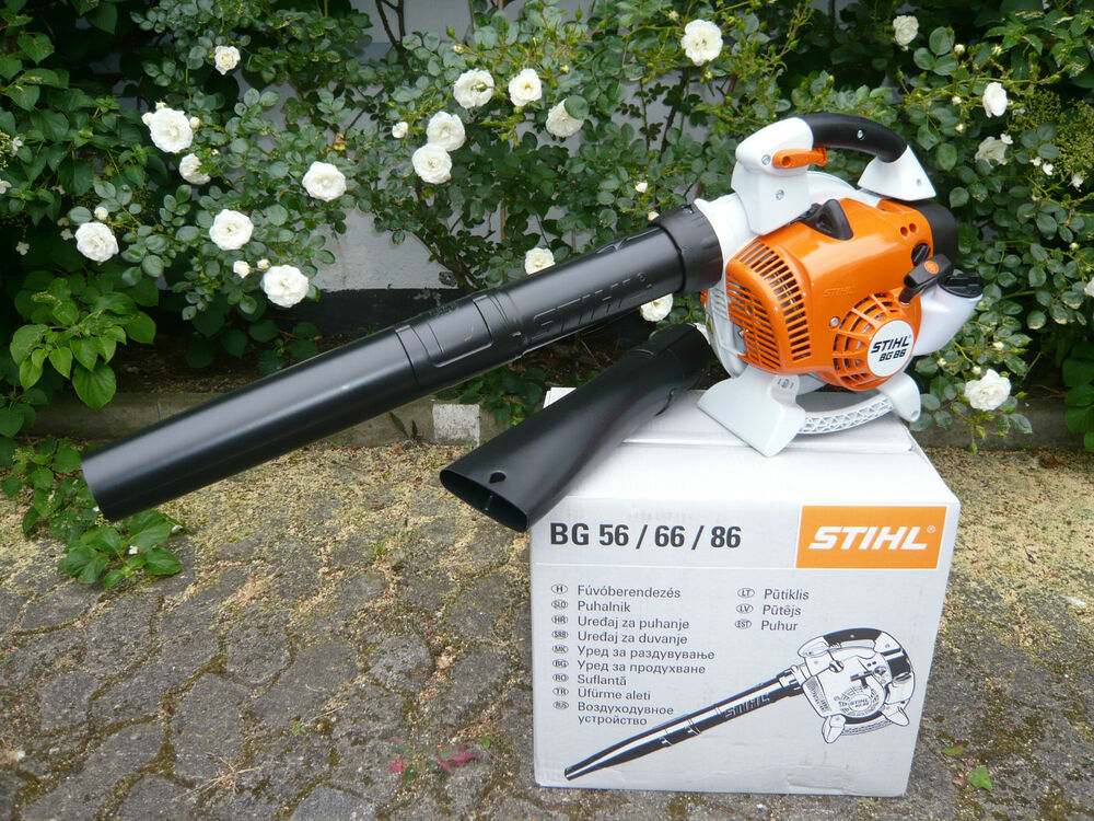 stihl benzin blasger t bg 86 laubbl ser luftbl ser laubgebl se mit 2 d sen bg86 ebay. Black Bedroom Furniture Sets. Home Design Ideas