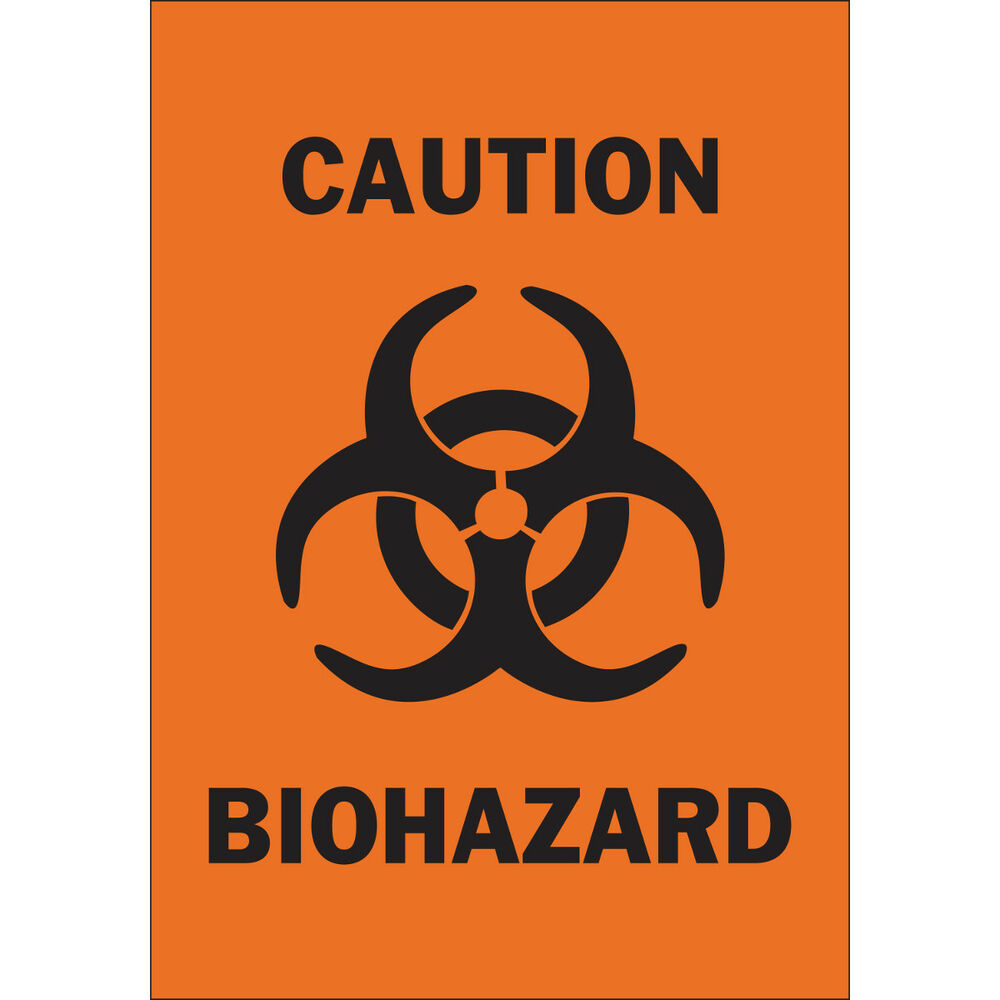 Biohazard Symbol Warning Safety Sticker 5 X 35 Self Adhesive Sign