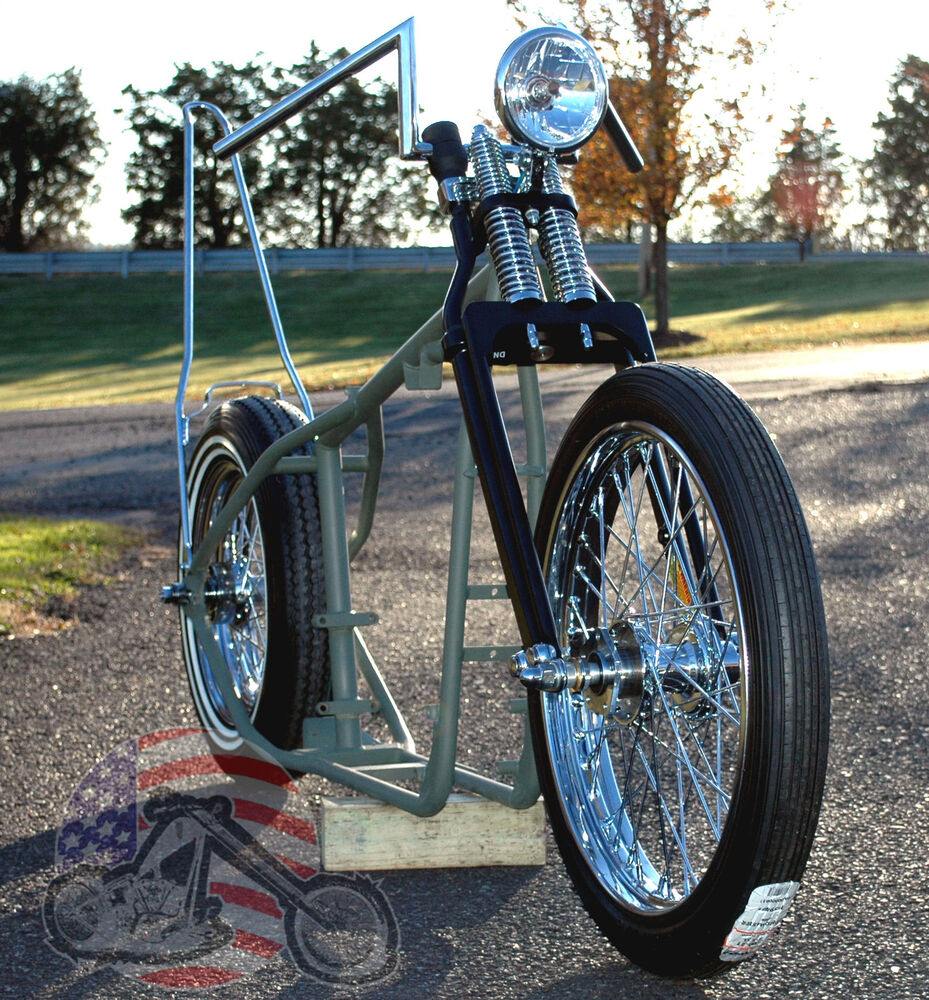 A$$ Grinder Harley Ironhead Sportster Rolling Chassis Paughco Frame ...