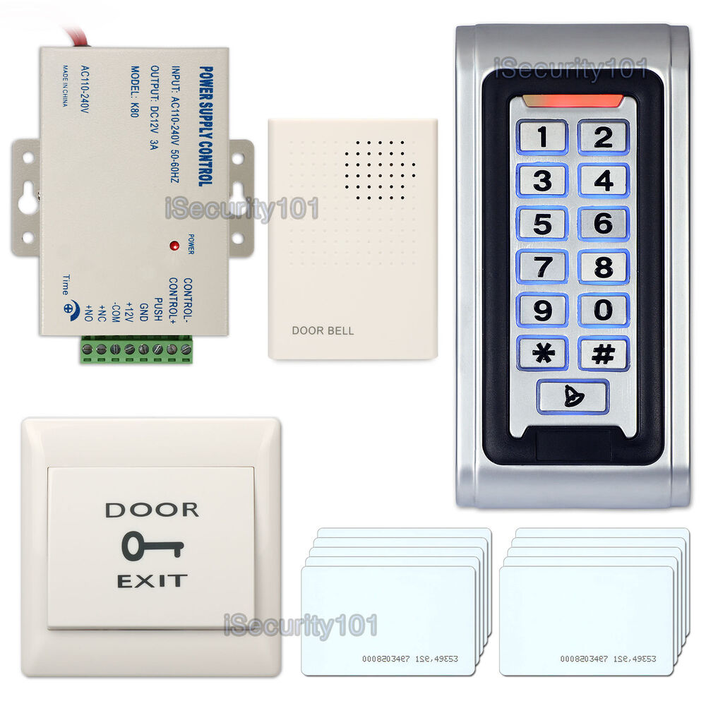 Door Access Control : Rfid reader door access control entry kit password keypad
