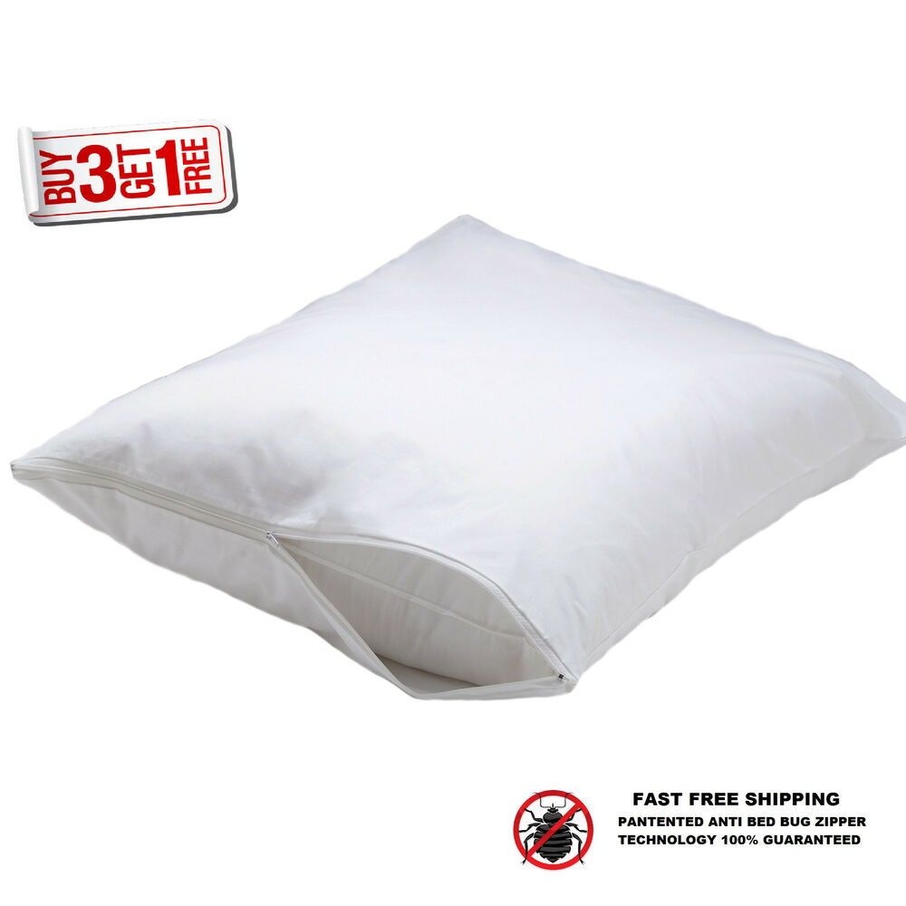 2 hotel hypoallergenic pillow case zippered bed bug With bed bug pillow case protectors