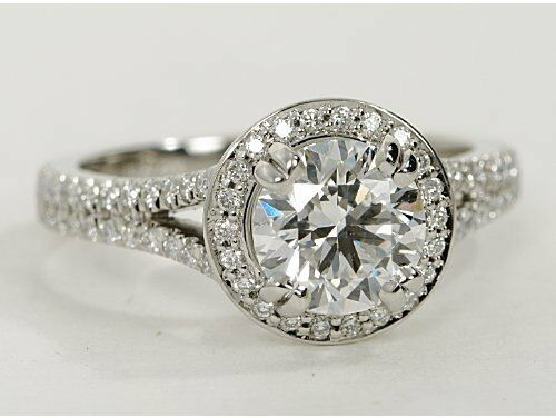 1 60 CT SOLITAIRE ROUND DIAMOND ENGAGEMENT RING SET IN 18K WHITE GOLD HALLMAR