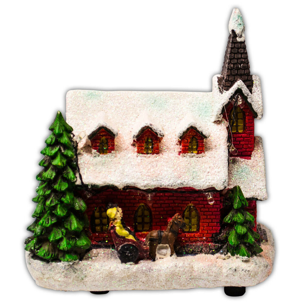 Christmas Light Up Classic Village CHURCH Indoor Lights