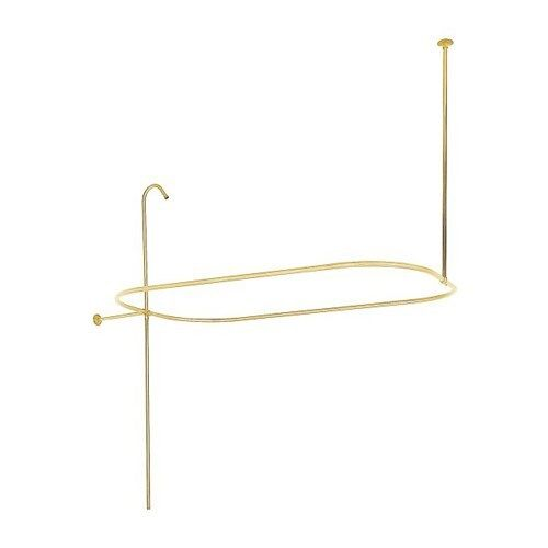 Polished Brass Shower Curtain Rod Ring Clawfoot Tub