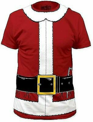 Santa claus christmas holidays red green costume outfit t for Costume t shirts online