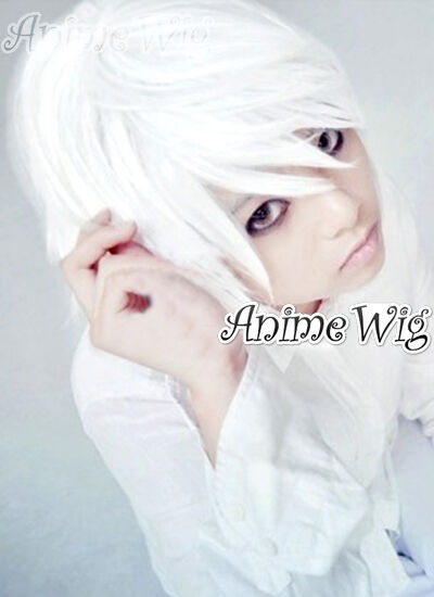 Death Note Near White Short 30CM Layered Anime Cosplay Wig ...
