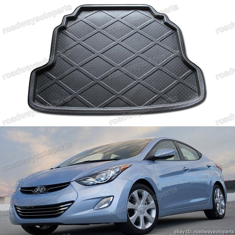 fit for hyundai elantra 2011 2013 trunk liner tray car cargo trunk mat ebay. Black Bedroom Furniture Sets. Home Design Ideas