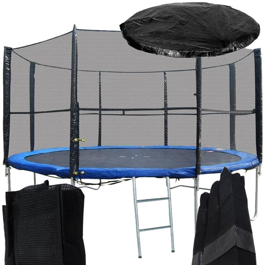 Trampoline Safety Net Replacement: New 8Ft Replacement 6 Pole Trampoline Safety Net Enclosure