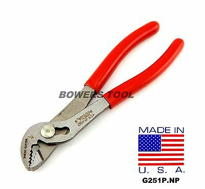 Wilde Tool 6 in. Angle Nose Slip Joint Pliers 3 Position MADE IN USA G251P.NP