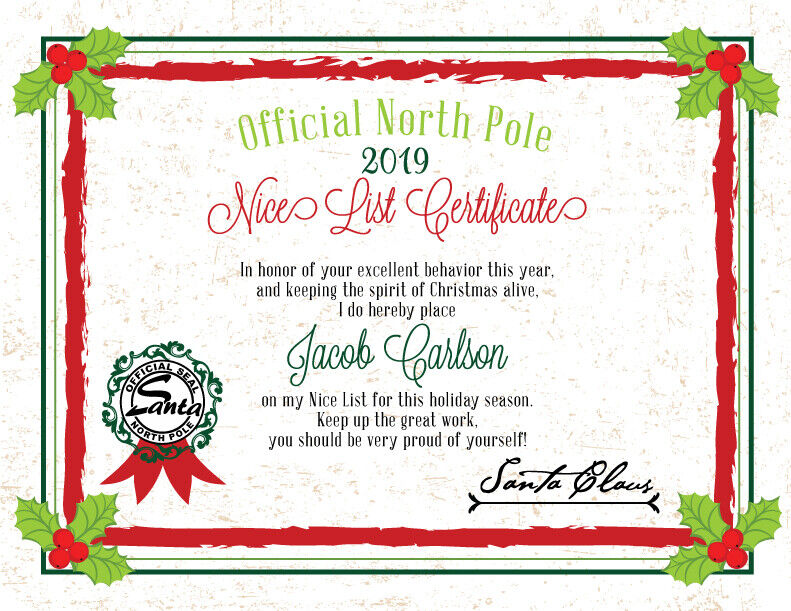 2016 christmas letter from santa nice list certificate pdf file you