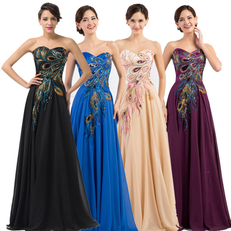 cheap peacock dress cheap retro peacock long prom evening ball gown 9791