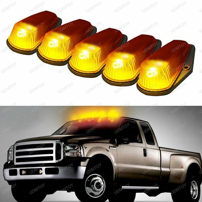 Old Pickup Lights : Classic amber cab roof marker running lamps w led